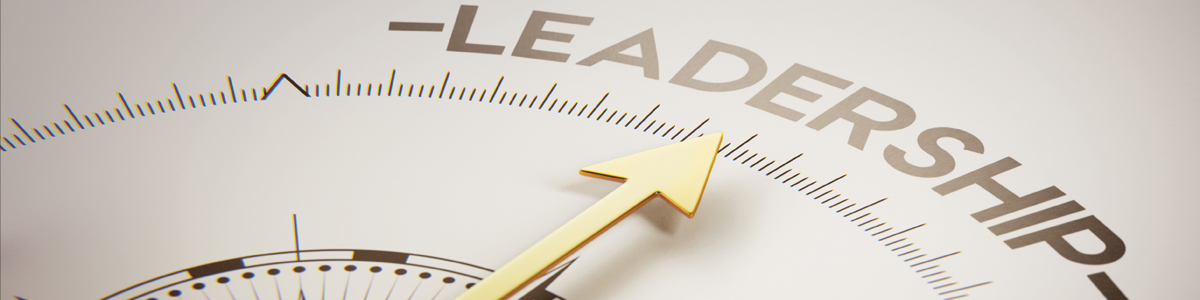 compass with leadership wording
